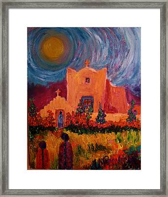 Sunday Morning In New Mexico Framed Print by Carolene Of Taos