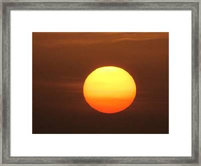 Sundown Framed Print by Andrea Dale