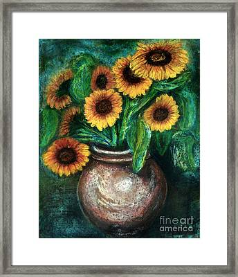 Sunflowers Framed Print by Jasna Dragun