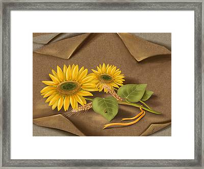Sunflowers Framed Print by Veronica Minozzi