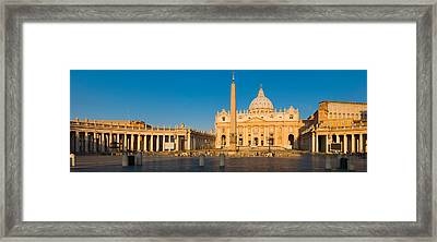 Sunlight Falling On A Basilica, St Framed Print by Panoramic Images