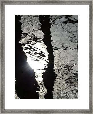 Framed Print featuring the photograph Sunlight On Water by Jane Ford