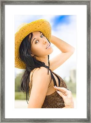 Sunlit Beauty Framed Print