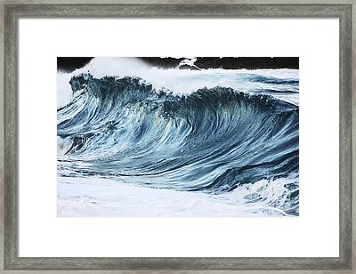 Sunlit Wave Framed Print by Vince Cavataio