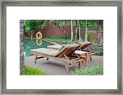 Sunloungers Framed Print