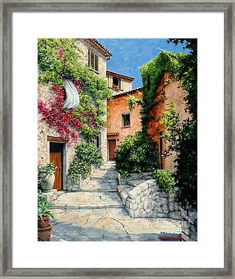 Sunny Walkway Framed Print