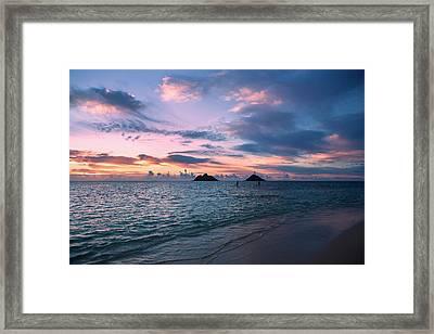 Sunrise At Lanikai Beach  Kailua Framed Print by Tomas del Amo