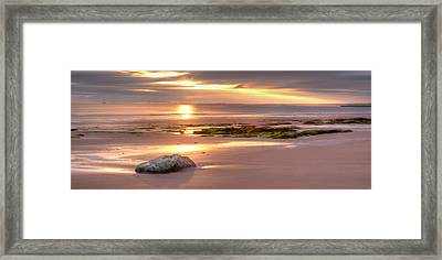 Sunrise At Nairn Beach Framed Print