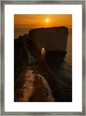 Sunrise At Old Harry Rocks Framed Print