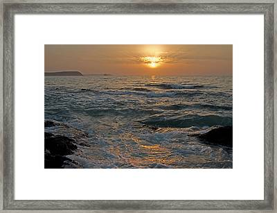 Sunrise At Portscatho Framed Print by Pete Hemington