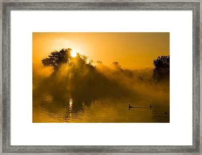 Sunrise At The Sepulveda Dam Wildlife Reserve Framed Print