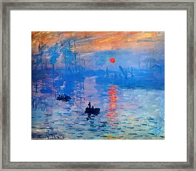 Sunrise Framed Print by Celestial Images