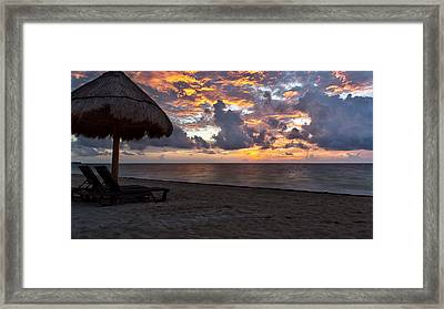 Sunrise In Cancun Mexico Framed Print