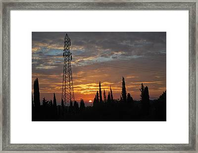 sunrise in Corfu 2 Framed Print by George Katechis