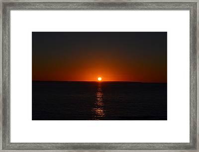 Sunrise Framed Print by James Petersen