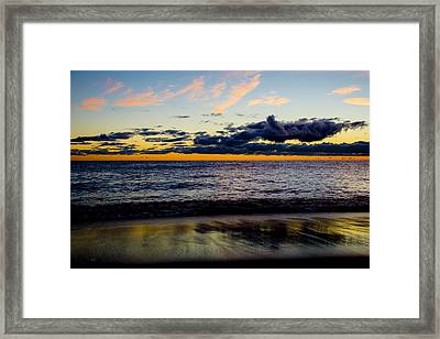Framed Print featuring the photograph Sunrise Lake Michigan September 14th 2013 001 by Michael  Bennett