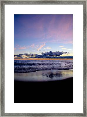 Framed Print featuring the photograph Sunrise Lake Michigan September 14th 2013 004 by Michael  Bennett