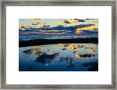 Sunrise Lake Michigan September 14th 2013 006 Framed Print