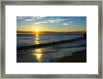 Sunrise Lake Michigan September 14th 2013 040 Framed Print