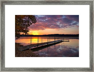 Sunrise On Keoka Lake Framed Print