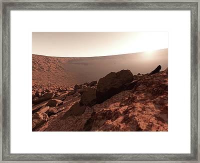Sunrise On Mars Framed Print by Detlev Van Ravenswaay