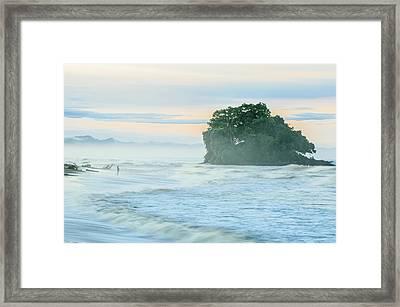 Sunrise On The Bahia Solano Beach Framed Print by Mario A Murcia L
