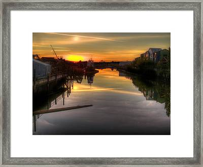 Sunrise On The Petaluma River Framed Print