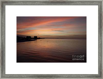 Framed Print featuring the photograph Sunrise Over Fort Myers Beach Photo by Meg Rousher
