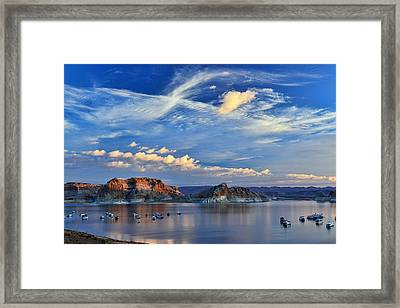 Sunrise Over Lake Powell Az Framed Print