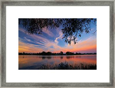 Sunrise Over Lake Rotoroa, Hamilton Framed Print