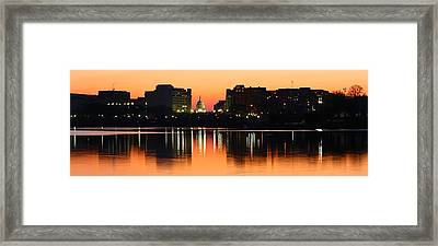 Sunrise Over The Capitol-2 Framed Print