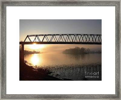 Sunrise Over The Ohio Framed Print