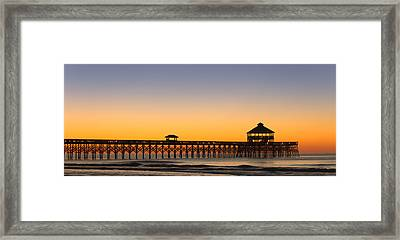 Sunrise Pier Framed Print