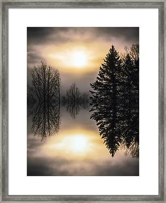 Sunrise-sundown Framed Print