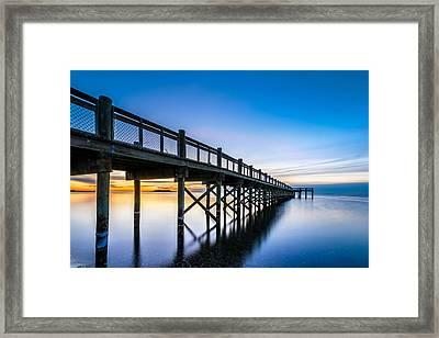 Sunrise Under The Boardwalk Framed Print