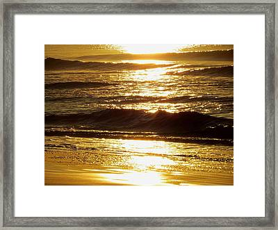 Sunrise Waves Framed Print