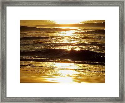 Sunrise Waves Framed Print by Nikki McInnes