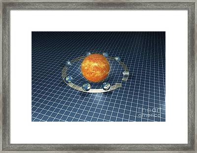 Sun's Gravity Well, Artwork Framed Print by Carlos Clarivan