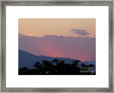 Framed Print featuring the photograph Sunset 2 by Ze  Di