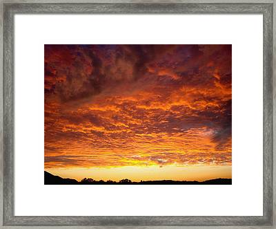 Sunset Ablaze Framed Print by James Hammen