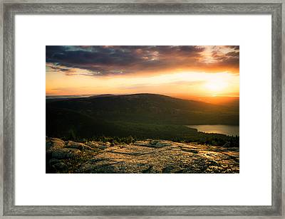 Sunset Acadia National Park Maine Framed Print