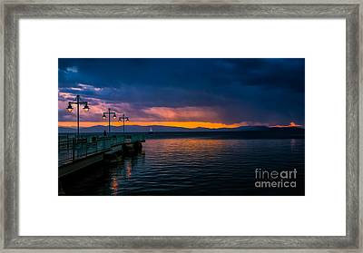Sunset After A Passing Thundershower. Framed Print