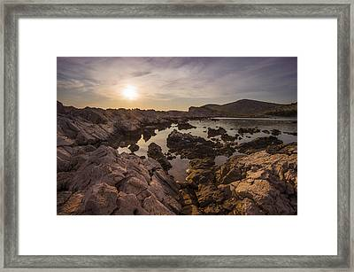 Sunset Framed Print by Akos Kozari