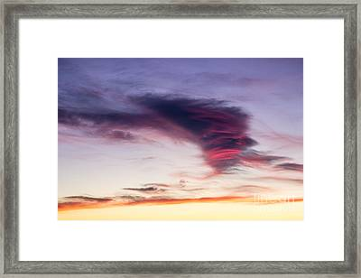 Sunset And Clouds Red Sensations. Framed Print