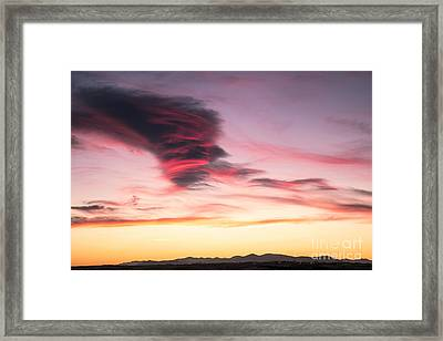 Sunset And Clouds Framed Print by Stefano Piccini