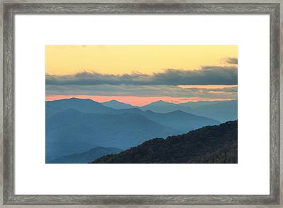 Sunset At Blue Ridge Parkway Framed Print by Dan Sproul