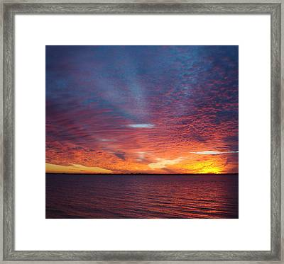 Sunset At Cafe Coconut Cove 5 Framed Print
