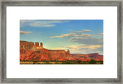 Framed Print featuring the photograph Sunset At Ghost Ranch by Alan Vance Ley