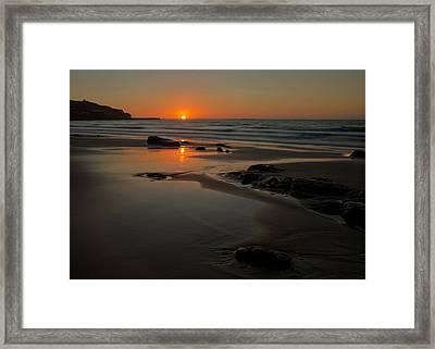 Sunset At Sennen Framed Print