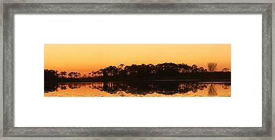 Sunset At St. Mark's Framed Print by Karen Lindquist